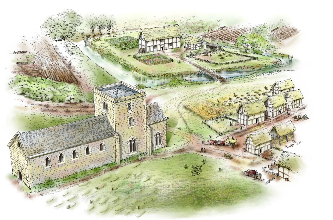 How Medieval Napton may have looked